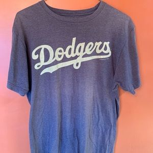 Majestic Los Angeles Dodgers Logo T Shirt Gray